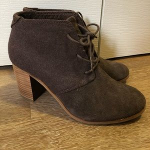 Heeled oxford booties